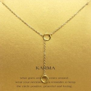 NEW on Card💕 Good Karma Gold Dipped Necklace Gift
